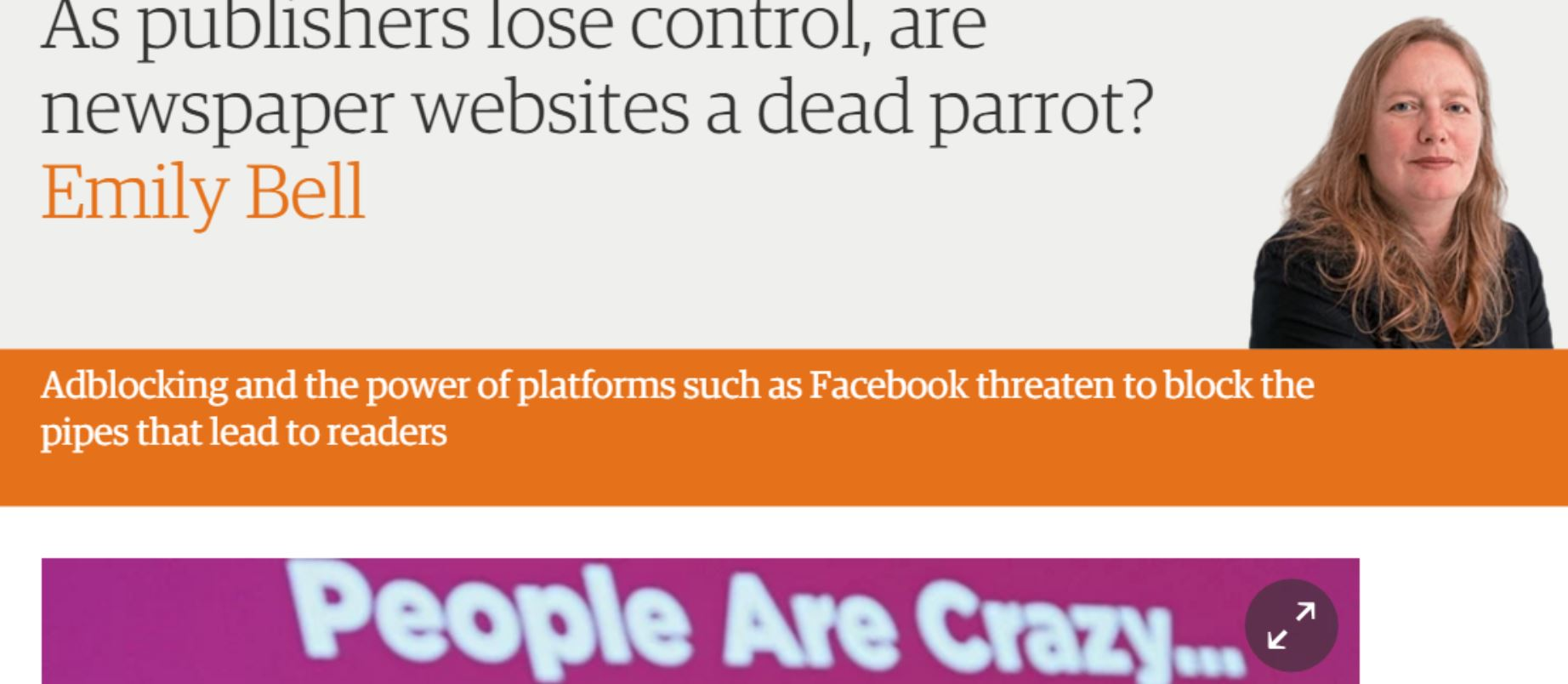 As publishers lose control, are newspaper websites a dead parrot?