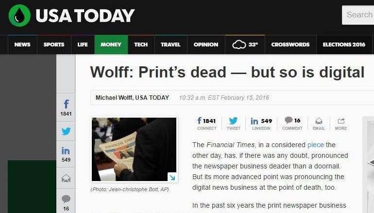 Print's dead — but so is digital