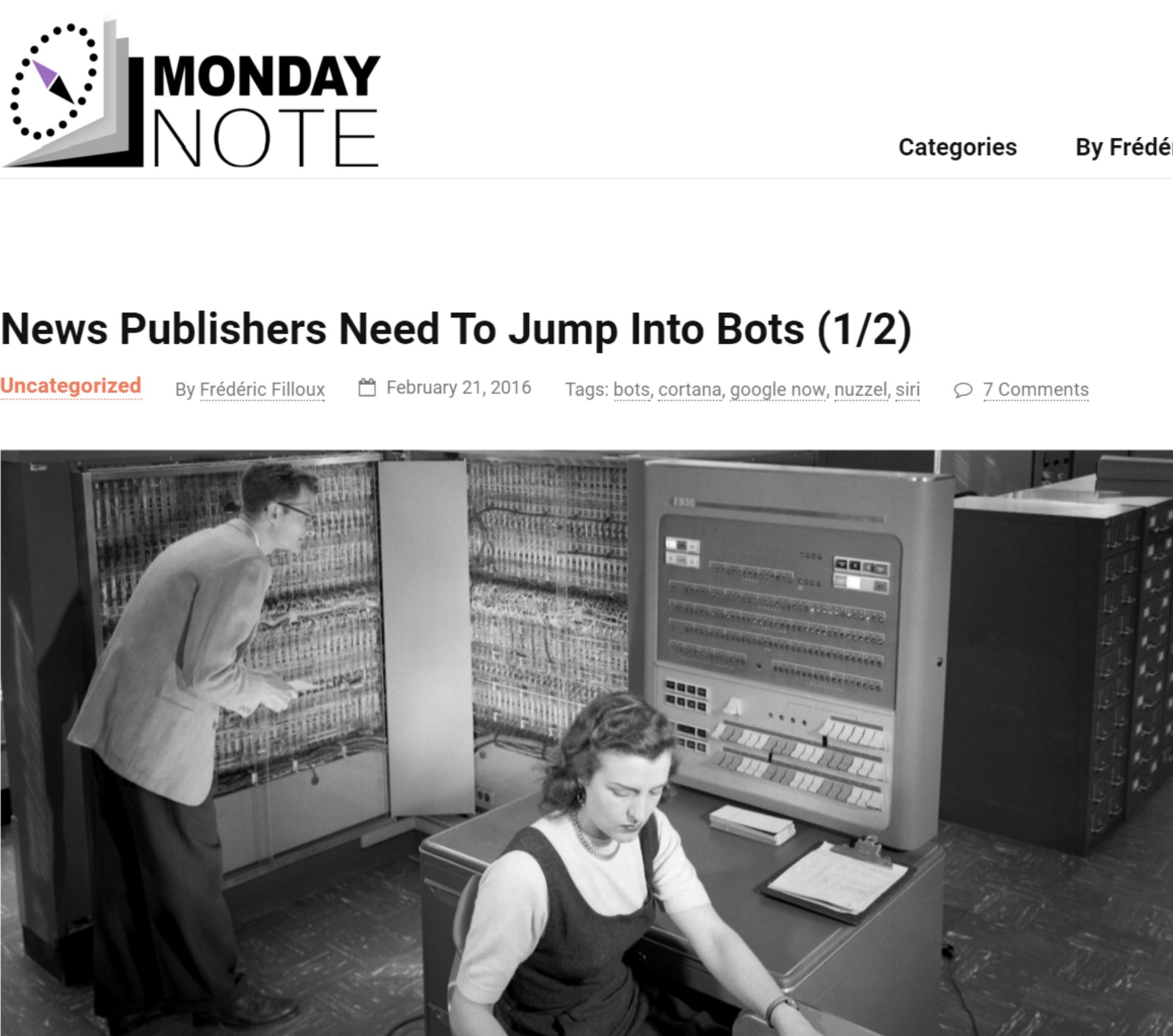 News Publishers Need To Jump Into Bots (1/2)