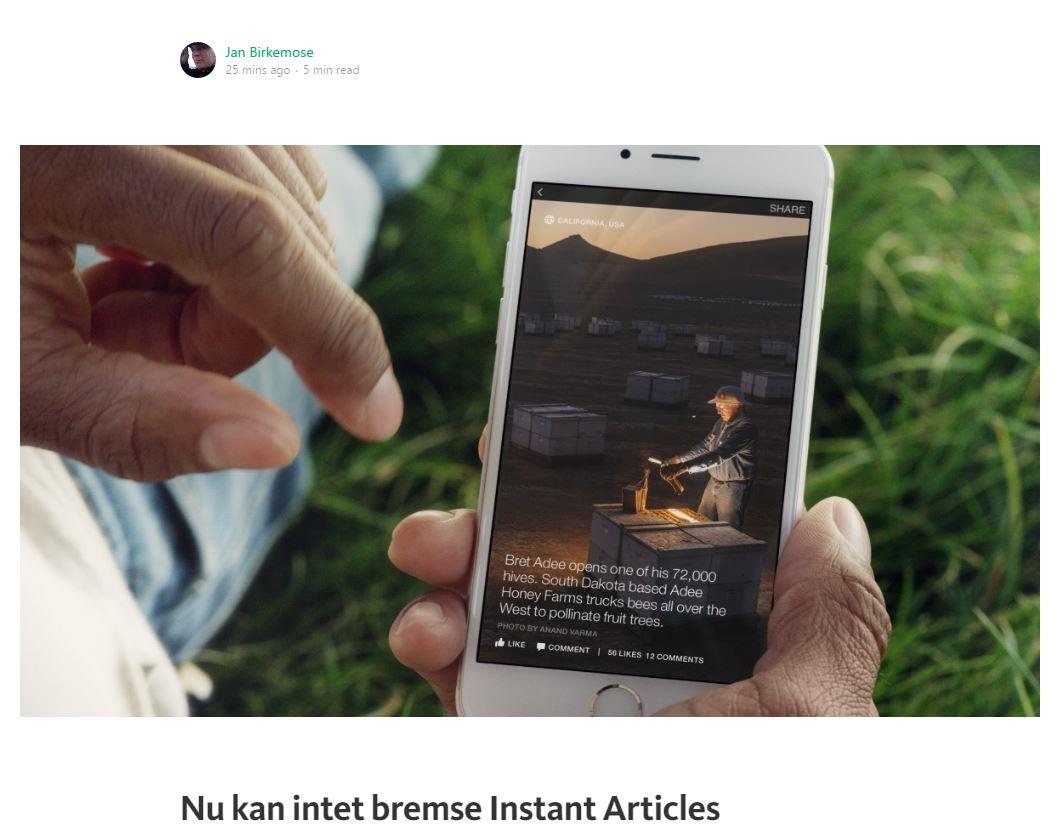 Nu kan intet bremse Instant Articles