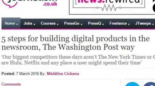 5 steps for building digital products in the newsroom, The Washington Post way