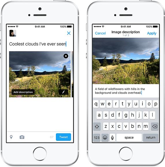 Nu kan blinde nyde fotos på Twitter