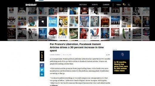 Fransk medie har succes med Instant Articles