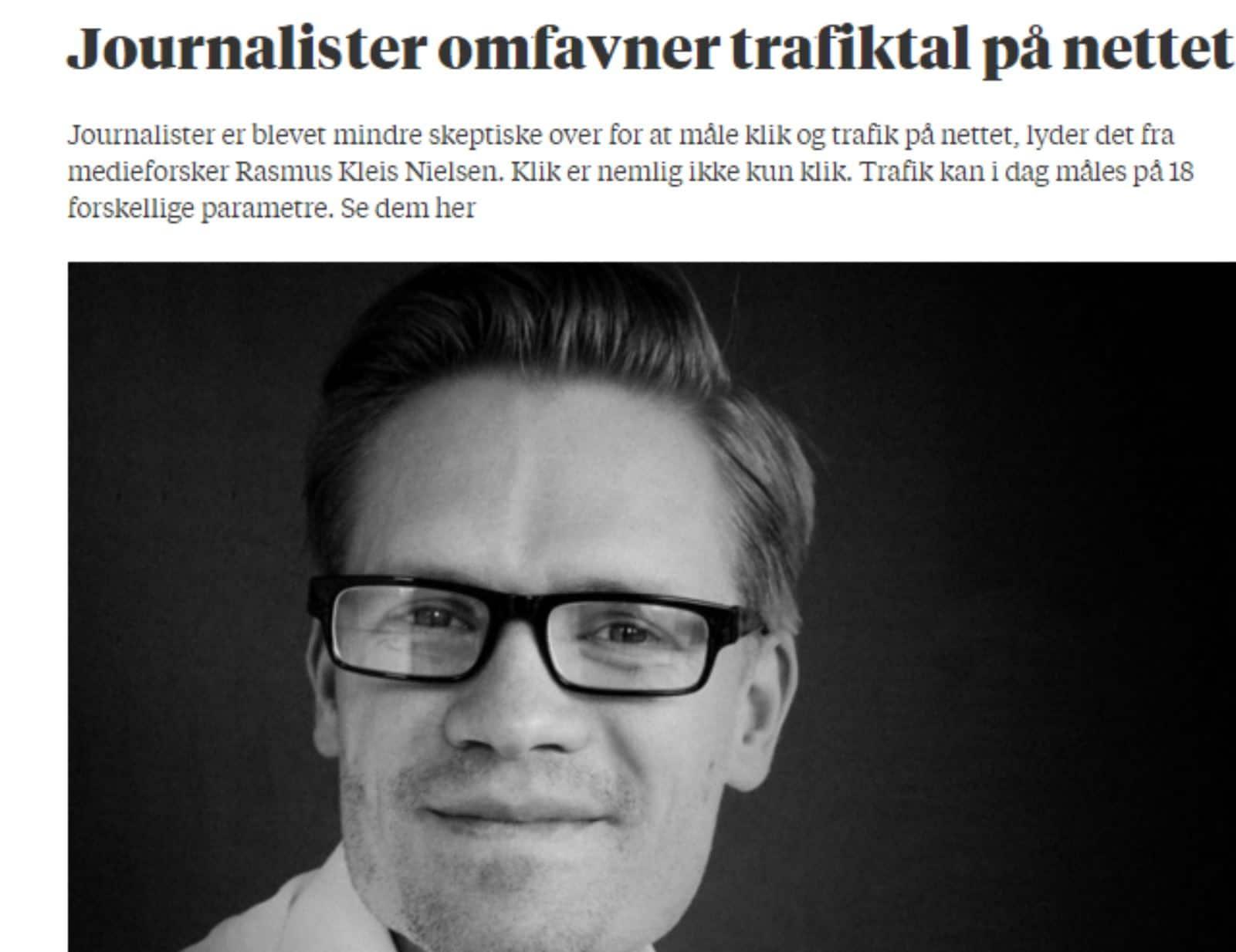 Journalister omfavner trafiktal på nettet