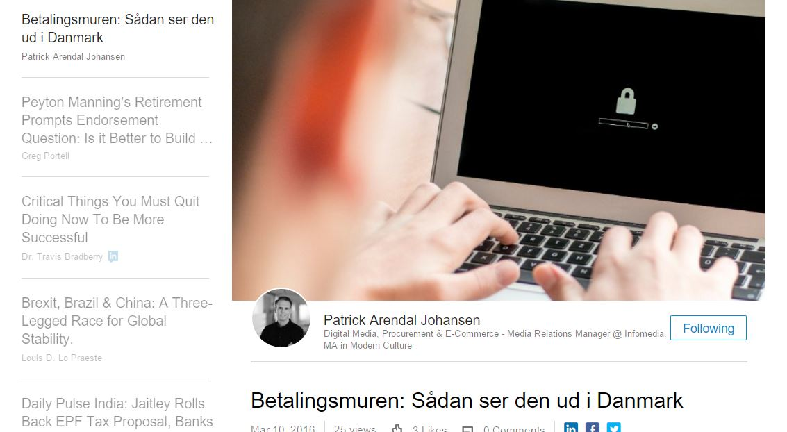Betalingsmuren: Sådan ser den ud i Danmark