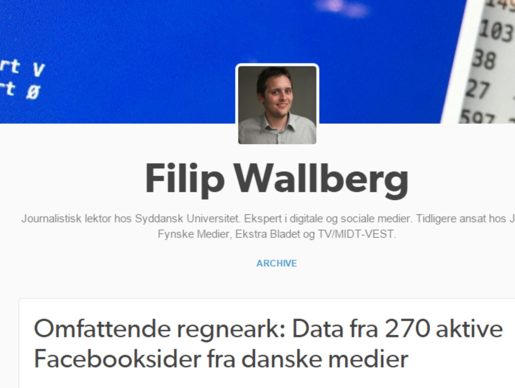 Omfattende regneark: Data fra 270 aktive Facebooksider fra danske medier
