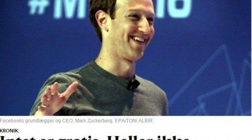 Intet er gratis. Heller ikke Facebook