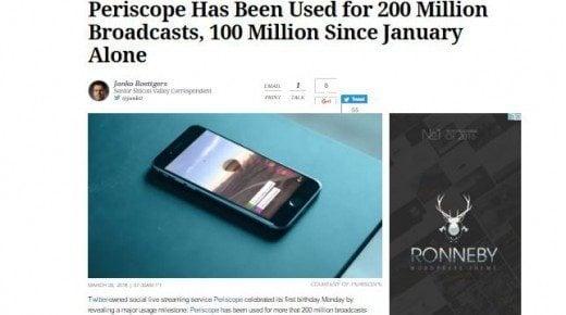 Benhård krig om live streaming - Periscope fører, Meerkat taber - Facebook og Google truer
