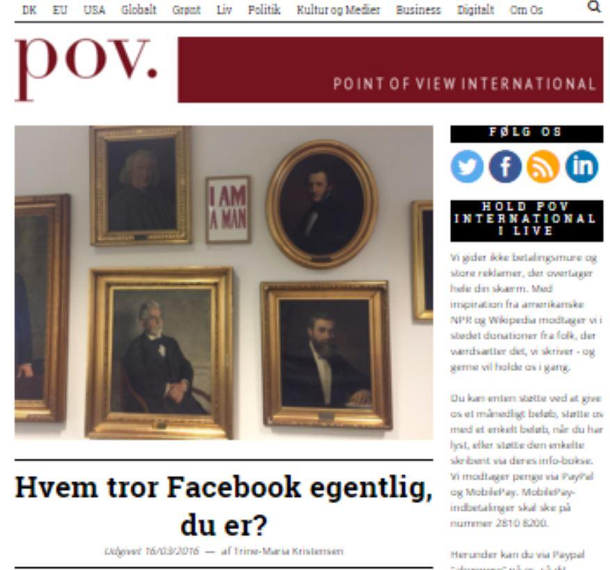 Hvem tror Facebook egentlig, du er?