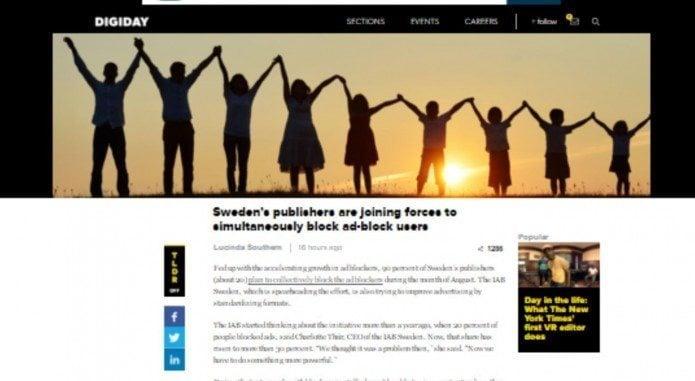 Svensk fællesfront mod ad blockere
