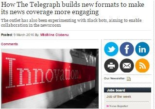 How The Telegraph builds new formats to make its news coverage more engaging