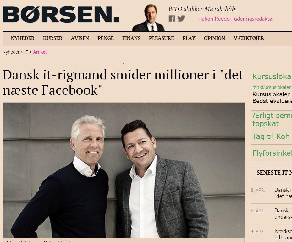 """Dansk it-rigmand smider millioner i """"det næste Facebook"""""""