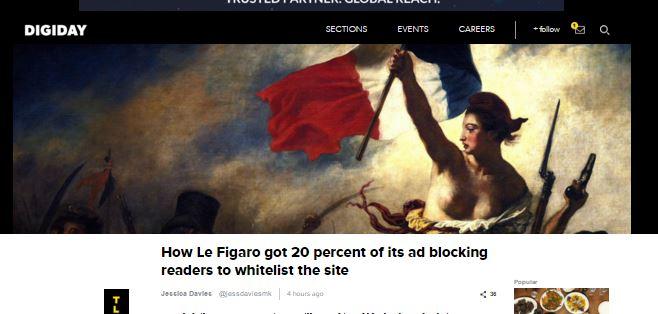 Sådan fik Le Figaro læserne til at fjerne ad blocker
