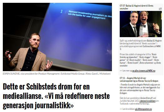 Schibsted på vej mod næste generations journalistik