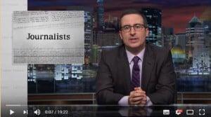 John Oliver gennemgår mediekrisen på 19 minutter
