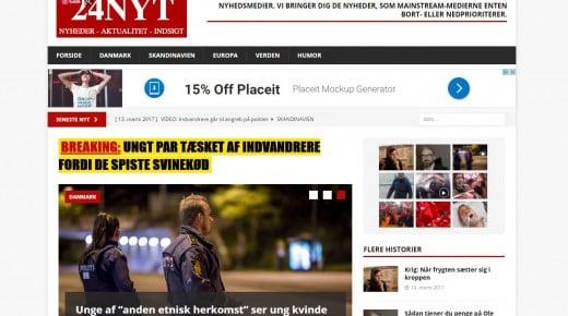 Folketingskandidat for Nye Borgerlige står bag fake news medie