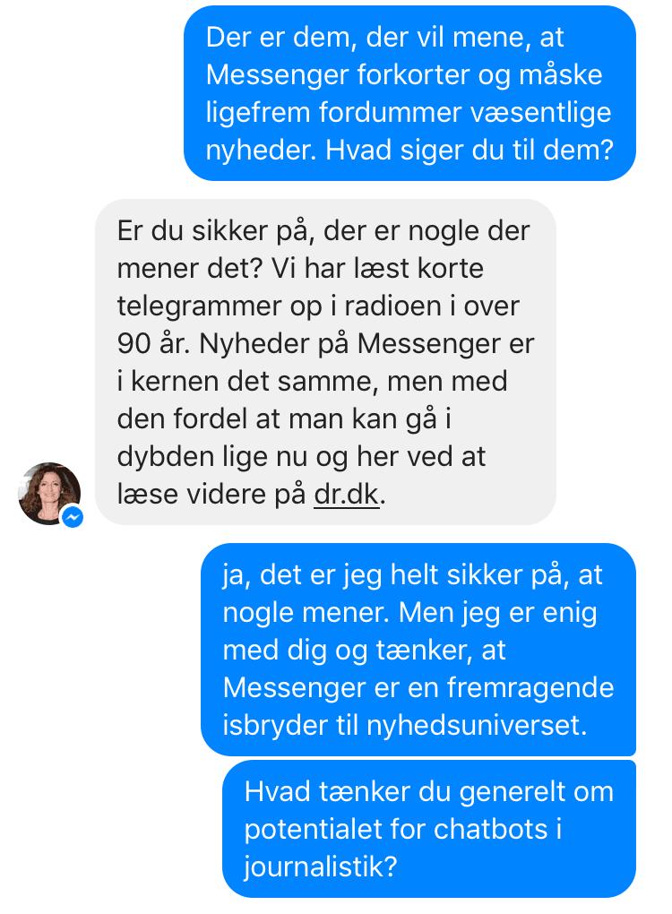 Danskere, der vender ryggen til de traditionelle nyhedsplatforme omfavner DRs chatbot. Uden markedsføring er antallet af sig selv vokset til 7000