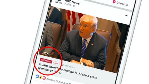 Facebook tester breaking-opslag
