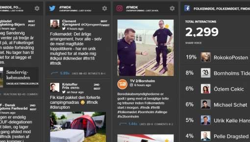 Se live, hvem der erobrer de sociale medier på Folkemødet