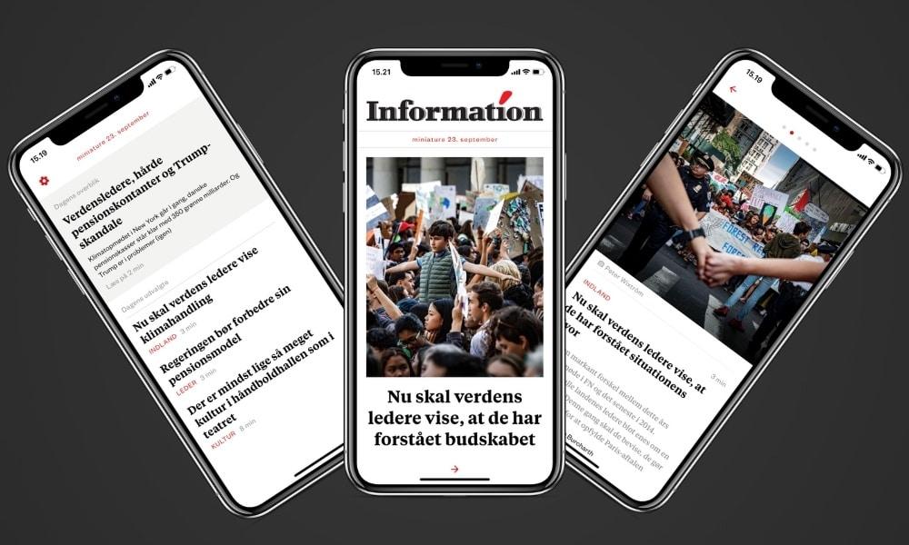 Dagbladet Information lancerer nyhedsapp, som uretfærdigt sammenlignes med The Economist app. Set som Informations app shiner den bedre