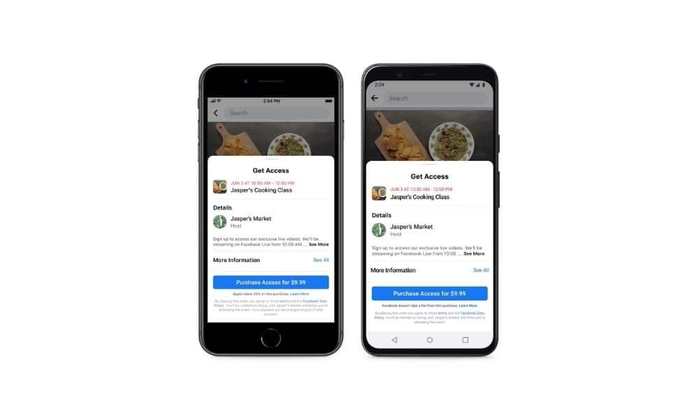 Facebook vil lade medier mikrosælge events
