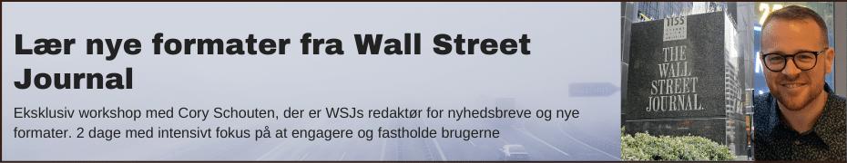 Kursus: Lær nye formater af Wall Street Journal