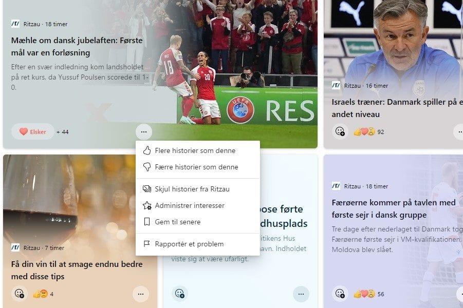 Microsoft lancerer personaliseret nyhedsfeed på dansk